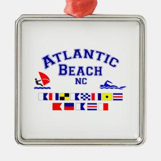 Den atlantiska stranden NC signalerar flagga Julgransprydnad Metall