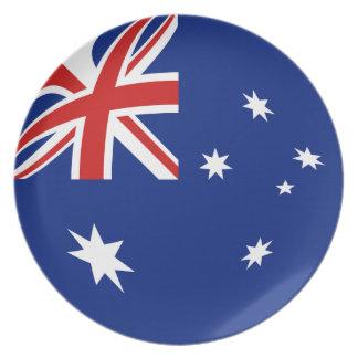 Den Australien Fisheye flagga pläterar Tallrik