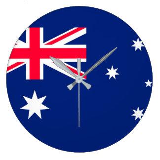 Den Australien flagga avbildar för Stor Rund Klocka