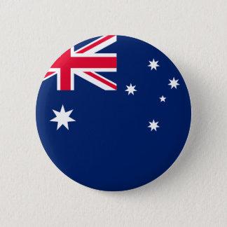Den Australien flagga knäppas Standard Knapp Rund 5.7 Cm