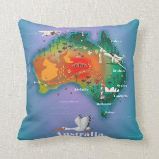 Den Australien kartan reser affischen Dekorativ Kudde