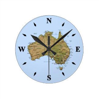Den Australien kartan tar tid på Rund Klocka