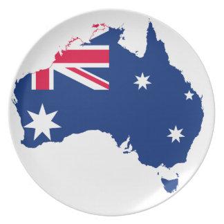 Den Australien melaminen pläterar Tallrik