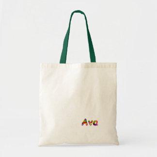Den Ava grönt- och vittotot hänger lös Budget Tygkasse