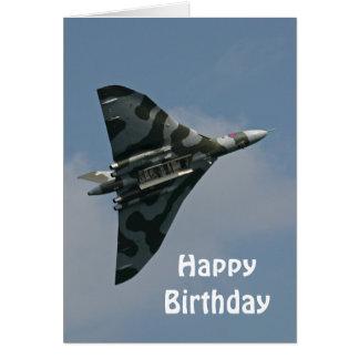 Den Avro Vulcan grattis på födelsedagen Hälsningskort
