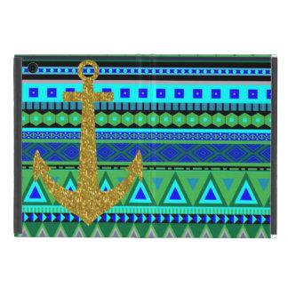 Den Aztec designen med glitter ankrar iPad Mini Skal