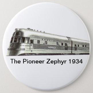 Den banbrytande zephyren 1934 jumbo knapp rund 15.2 cm