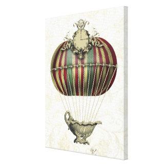Den barocka ballongen med tar tid på canvastryck