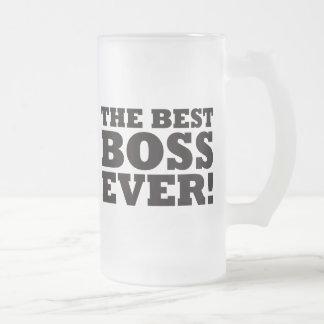 Den bäst chefen någonsin frostad glas mugg