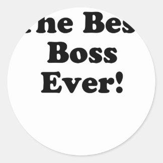 Den bäst chefen någonsin runt klistermärke