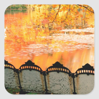 Den bäst hösten placerar i huset Louisville Fyrkantigt Klistermärke