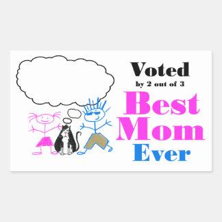 Den bäst mamman rektangulärt klistermärke