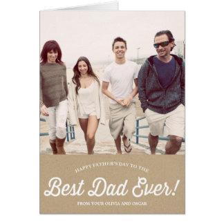Den bäst pappan skrivar | Karaft det pappra fars Hälsningskort