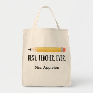 Den bäst personligtotot för lärare någonsin | mat tygkasse