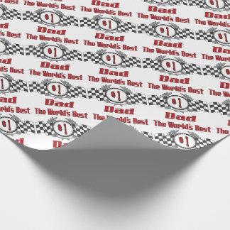 Den bäst världen numrerar ett pappatävlatema presentpapper