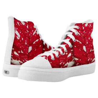 Poinsettia Leaf High Top Shoes