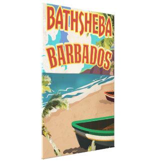 Den Bathsheba Barbados vintagesemestern reser Canvastryck