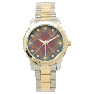 Den Baxter tartanen Två-tonar klockan Armbandsur