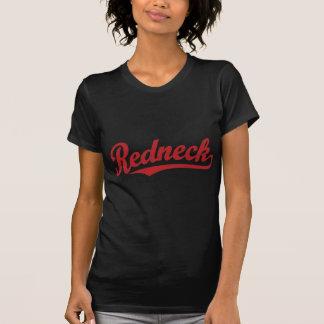 Den bedrövade rednecken skrivar logotypen tshirts