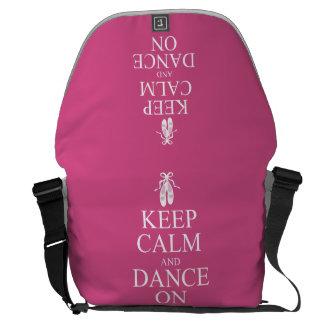 Den behållalugn och dansen på Ballerina skor rosor Kurir Väska