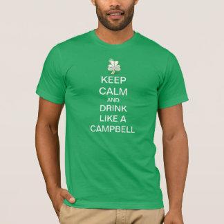Den behållalugn och drinken gillar en Campbell Tee