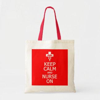 Den behållalugn & sjuksköterskan hänger lös på - v budget tygkasse