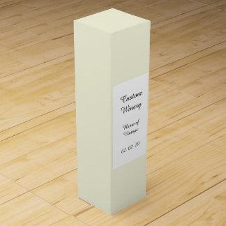 Den beige kicken avslutar kulört förpackning för vinflaska