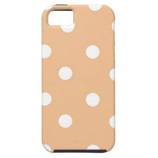 Den beige polcaen pricker iPhone 5 Case-Mate skydd