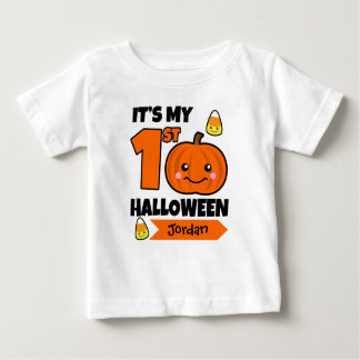 Den beställnings- baby den 1st Halloween skjortan Tee
