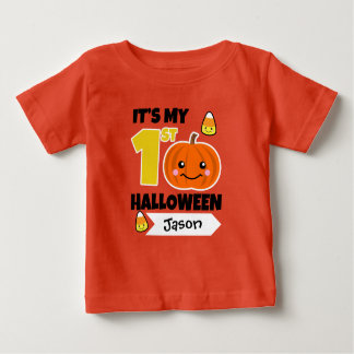 Den beställnings- baby den 1st Halloween skjortan Tee Shirt