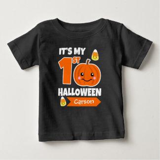 Den beställnings- baby den 1st Halloween skjortan Tröja