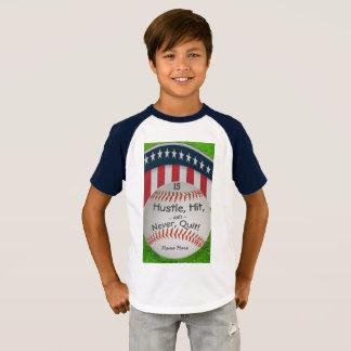 Den beställnings- baseballskjortan med numrerar tee shirt