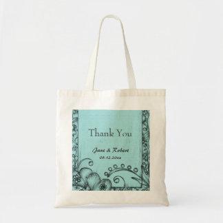 Den beställnings- blom- bröllopfavören tackar dig tote bag
