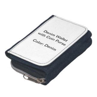 Den beställnings- Denimplånboken med myntar handvä