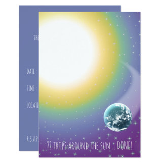 Den beställnings- födelsedagen snubblar runt om 8,9 x 12,7 cm inbjudningskort