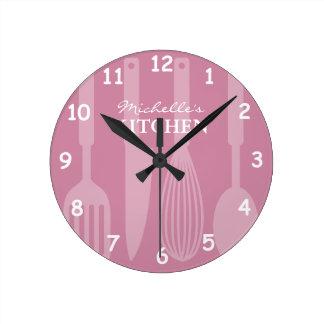Den beställnings- kökväggen tar tid på med medium rund klocka