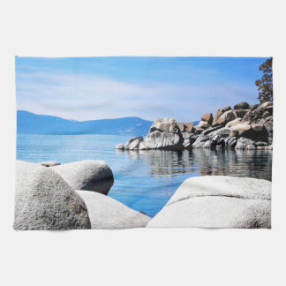 Den beställnings- Lake Tahoe Sandhamnen fotografer Kökshandduk