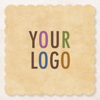 Den beställnings- logotypen som brännmärkas underlägg papper