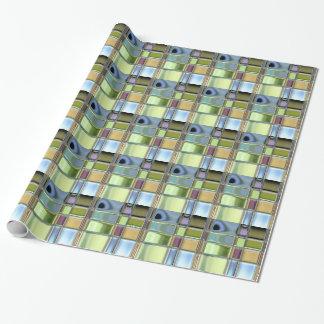 Den beställnings- mosaiken belägger med tegel presentpapper