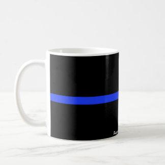 Den beställnings- muggen för tunn blålinjen kaffemugg