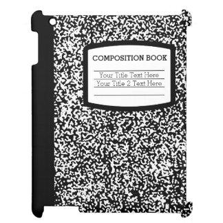 Den beställnings- sammansättningsboksvarten/vit iPad skydd