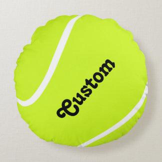 Den beställnings- tennisbasebollspelaren eller rund kudde