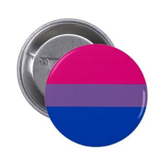 Den bisexuella prideflagga knäppas knappar med nål