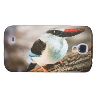 Den blått gick mot Kingfisherfågeln fotograferar Galaxy S4 Fodral