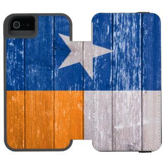 Den blått- och orangeTexas flagga målade gammalt