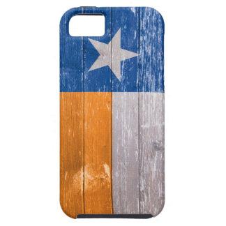 Den blått- och orangeTexas flagga målade gammalt iPhone 5 Case-Mate Skydd