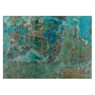 Den blåttChrysocolla stenen avbildar
