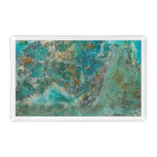 Den blåttChrysocolla stenen avbildar Bricka