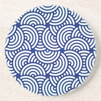 Den blåttDeco japanen buktar Underlägg Sandsten