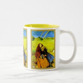 Den blinda flicka~en John Everett Millais Två-Tonad Mugg